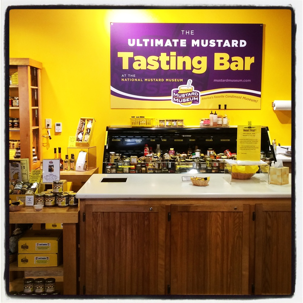 The Ultimate Mustard Tasting Bar at the National Mustard Museum - Middleton, WI