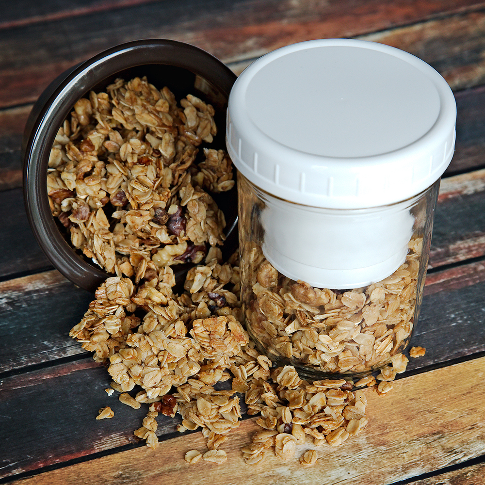 Honey Walnut Granola - Mason Jar Snacks