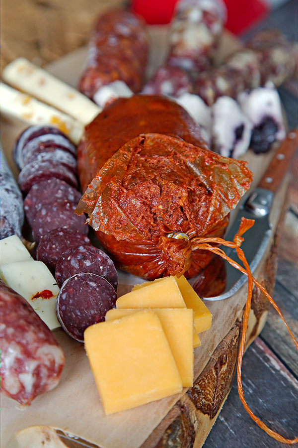 Here's an up close look at the 'Nduya and Salame Di Manzo made from Wagyu beef