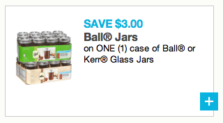 Save $3 on Ball or Kerr Mason Jars