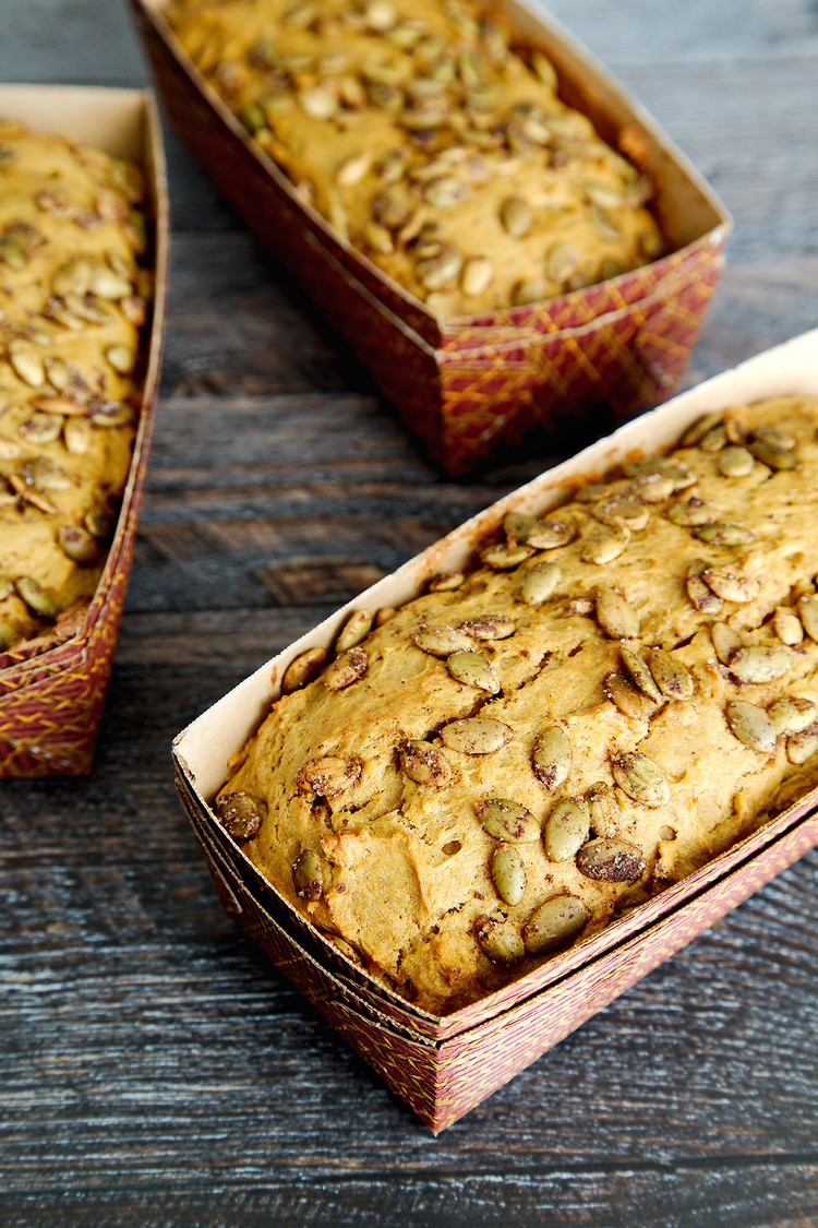 Pumpkin Bread w/ Spiced Pepitas