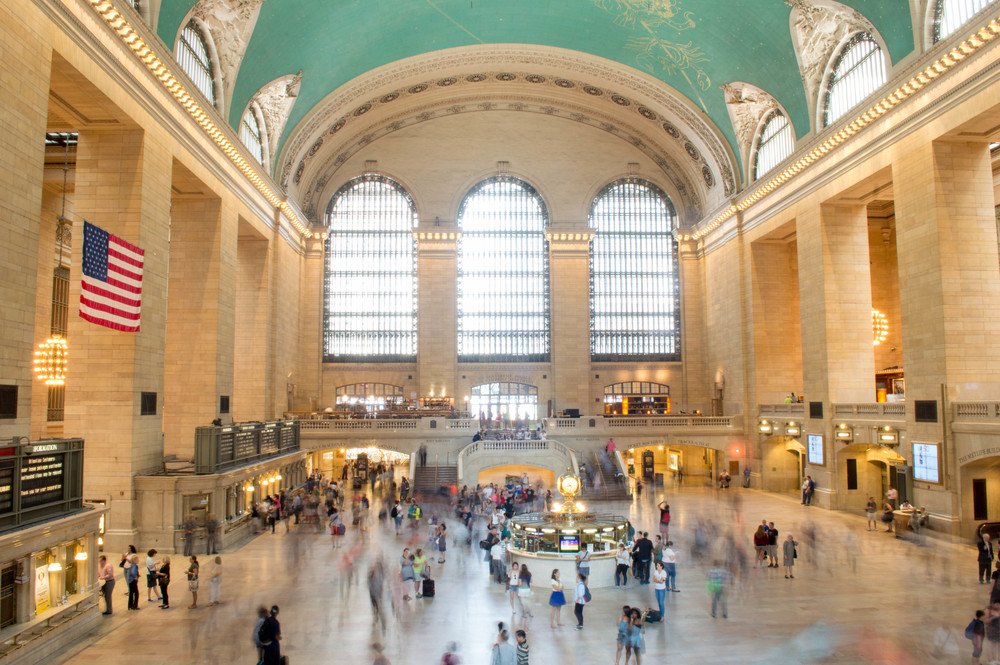 Rushing through Grand Central Terminal