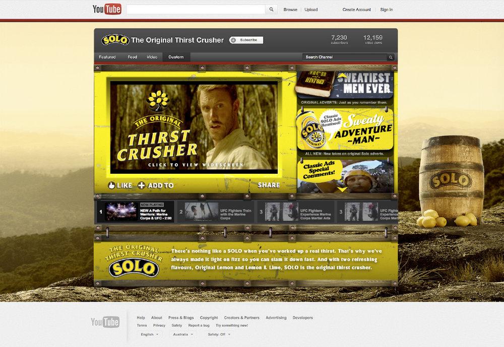 SOLOYouTube Channel  featuring the award-winning  Sweaty Adventure Man   series.