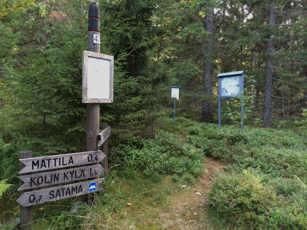 You Are Here, amongst the signage of Koli National Park