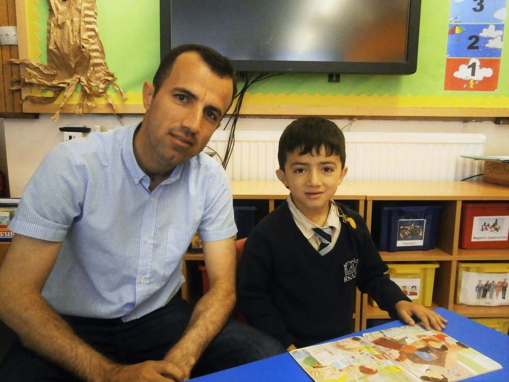 Iraqi-born Lawand Hamadamin (right) pictured with his father Rebwar, has been told that he can stay in the United Kingdom. The youngster is profoundly deaf and attends theRoyal School for the Deaf - Penguin PR; public relations, communications and media
