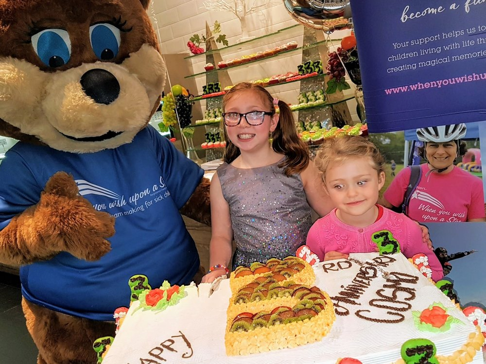 Amy Rhodes and Emily Thomas were invited to celebrate COSMO Nottingham's third birthday as part of the restaurant's ongoing partnership with When You Wish Upon A Star charity.