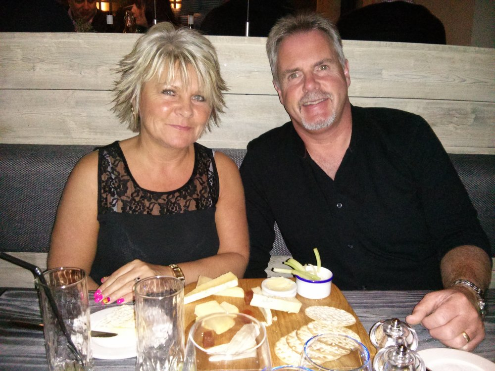 Tracey Osborne is pictured with husband Phil before his sudden death. Penguin PR: public relations, media and communications