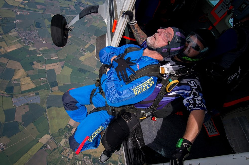 Graham Shaw, chief operating officer of SMS Electronics in Beeston, took part in a skydive for the Nottinghamshire Hospice. Penguin PR: public relations, media and communications