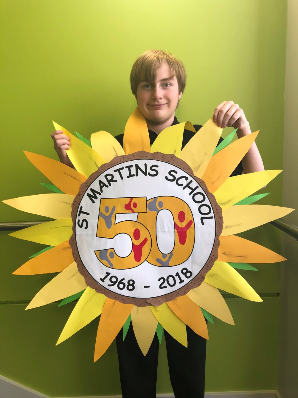 Fourteen-year-old James Palfreyman and his family designed the winning entry, which will be used on school stationery and the website for the next 12 months. Penguin PR: public relations, media and communications