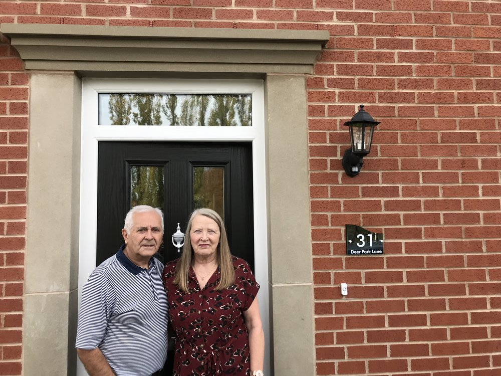 Dave and Pam Rogers are delighted with their new home at Deer Park. Penguin PR: public relations, media and communications