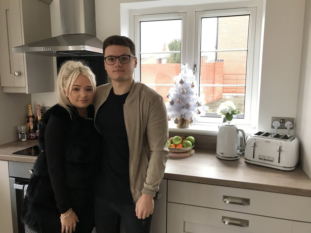 Georgia Sellors and Ryan Wheatcroft are looking forward to spending Christmas in their very first house at Deer Park. Penguin PR: Public relations, media and communications