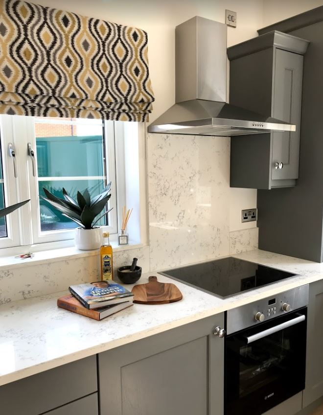 Tribal patterns - similar to the one seen here in the kitchen of the Deer Park show home, will continue to be popular in 2019. Penguin PR: public relations, media and communications