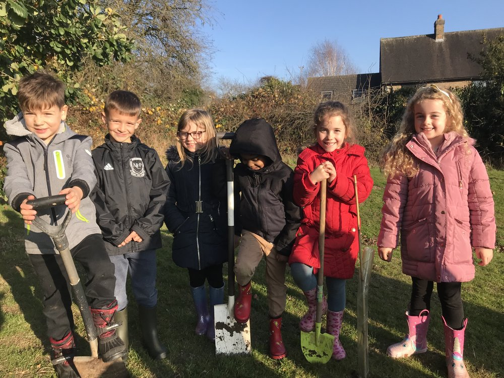 Pupils from Carlyle Infant School enjoyed tree planting with staff and youngsters from St Giles School in Derby. Penguin PR: public relations, media and communications