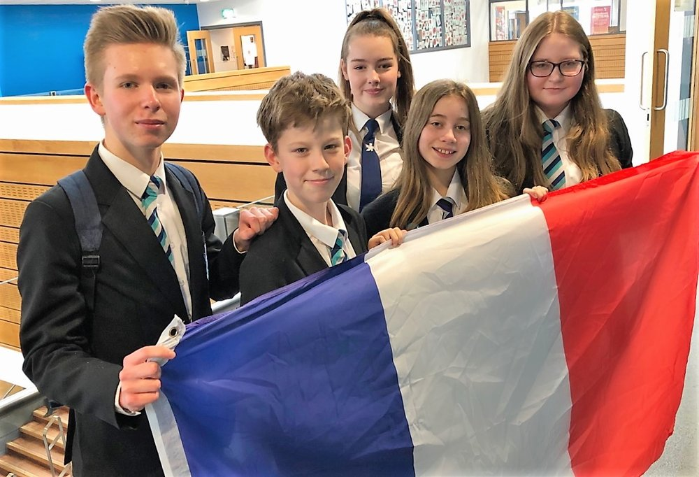 From left, Shirebrook Year 9 students Joshua Browne, James Mowbray, Beth Warren, Holly Sykes and Ella Baugh are preparing to revive a school tradition by taking part in an exchange visit with a French school. Penguin PR: public relations, media and communications