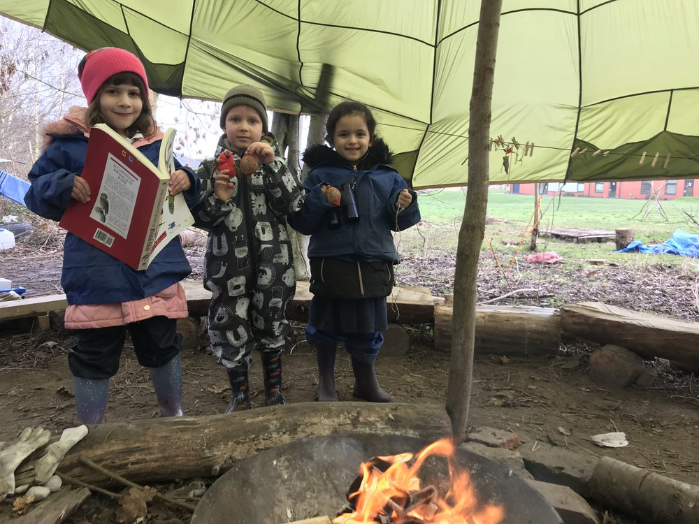 Youngsters from Carlyle Infant & Nursery School enjoying their Forest School session with Mr Wallace. Penguin PR: public relations, media and communications.