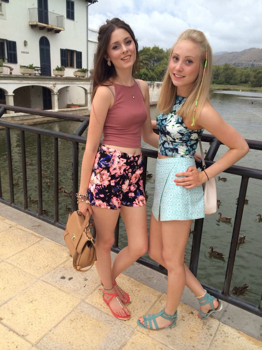 Talia Sinnott (right) pictured on holiday in 2015. Penguin PR: public relations, media and communications