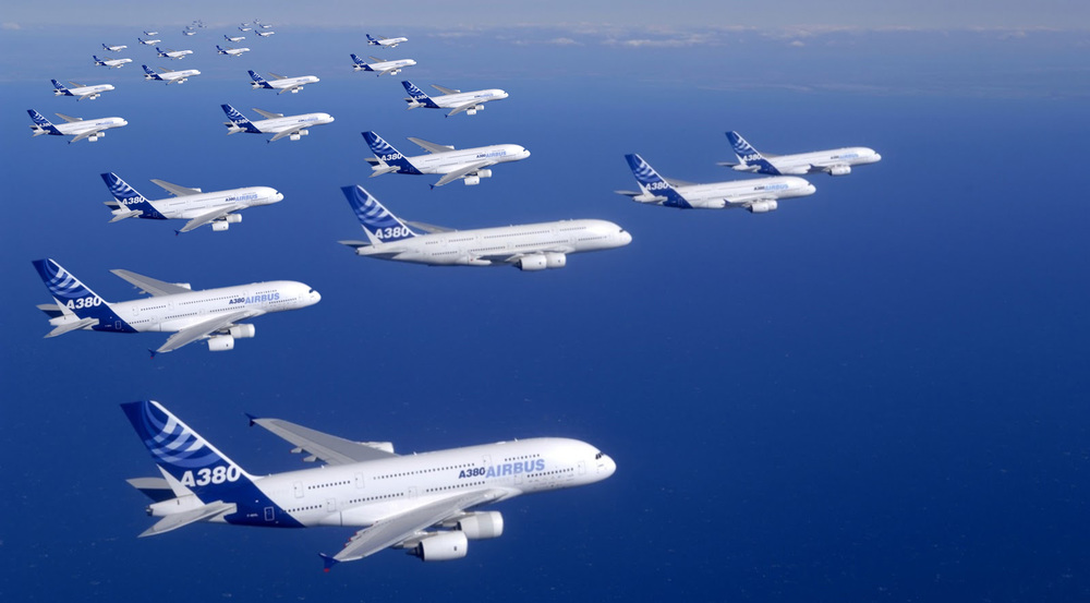 Tim Cook's Airbus fleet