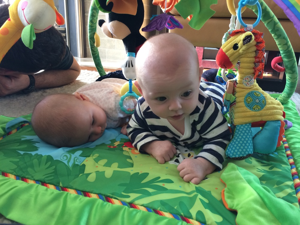 """Harper has a slightly different concept of """"tummy time."""""""