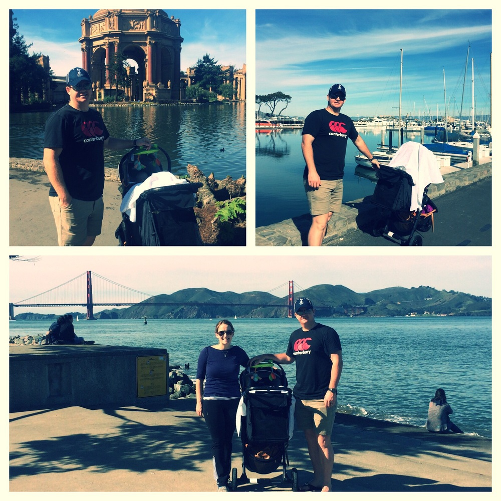 Family walk through the Presidio and Crissy Field