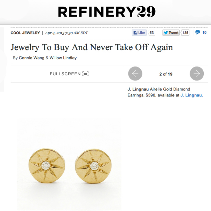 arielle diamond earrings on refinery29