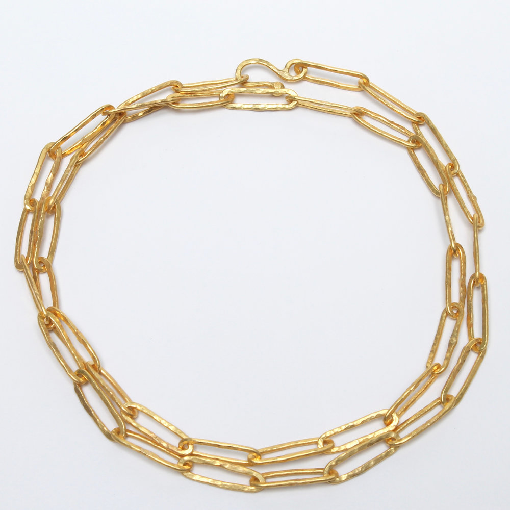 Nefertiti 22k Gold Necklace — J. Lingnau