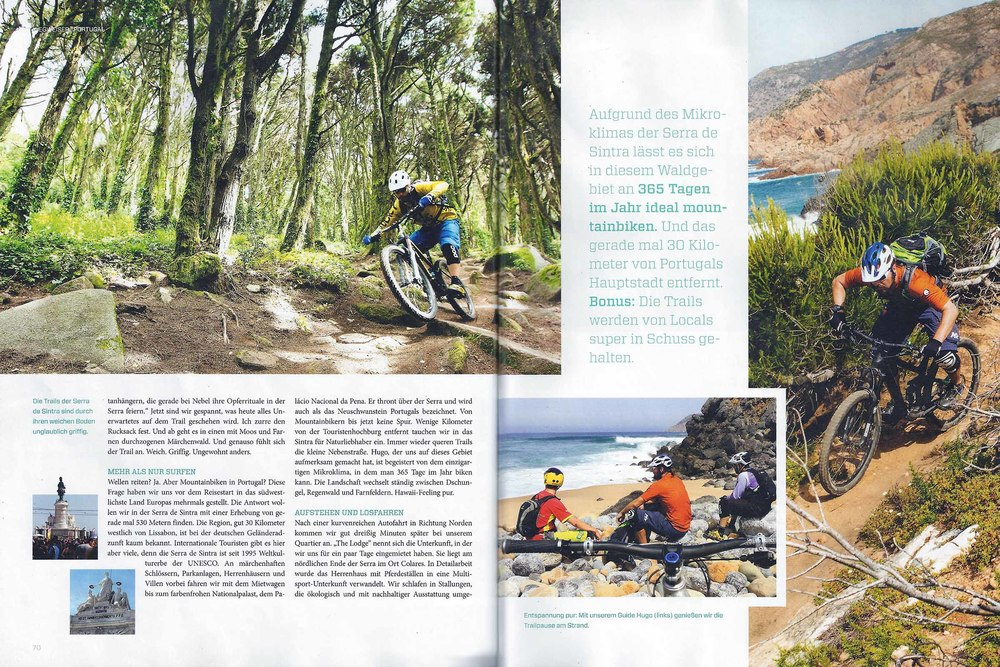 bikesport magazine sample page