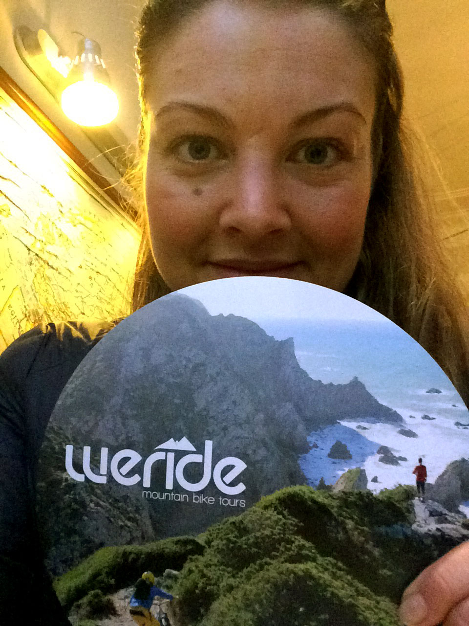 Linda in love with the WERIDE flyer!