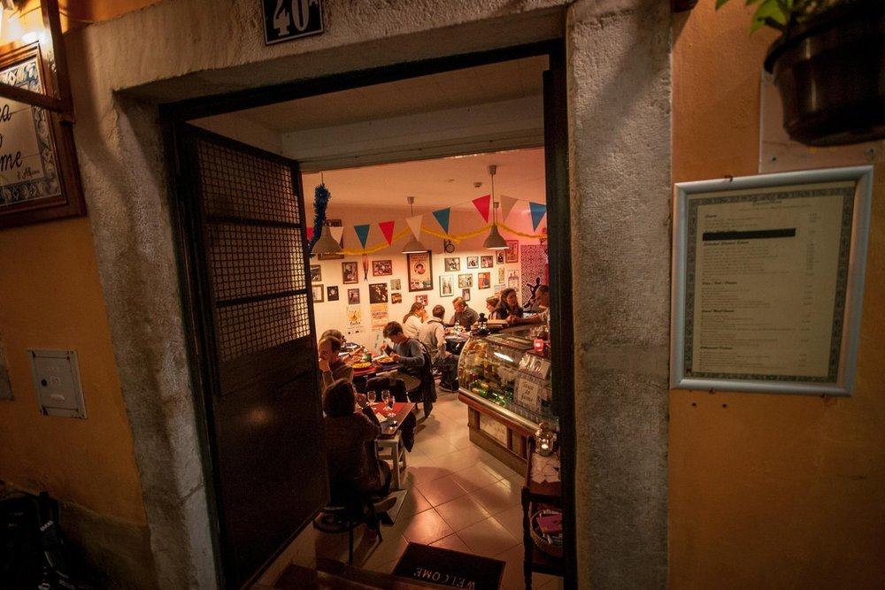 A fado restaurant in the old town of Lisbon, Alfama