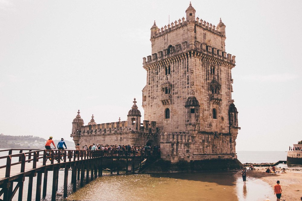"""As the cruise ships and fishing vessels chug out of the nearby harbour, we pedal off towards Belém."""