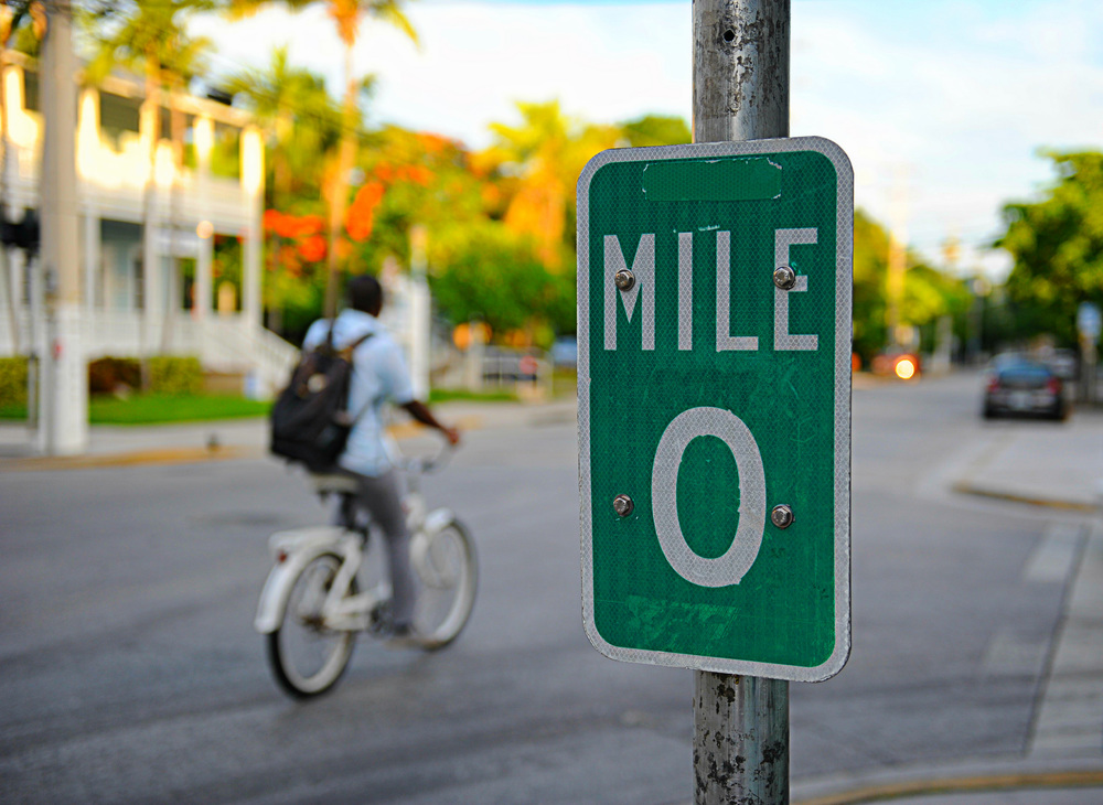 Mile 0, Key West FL, @clarkmaxwell via Flckr