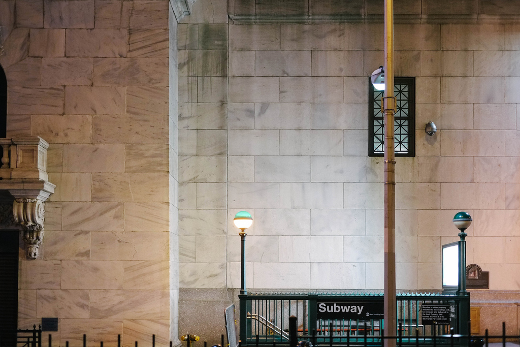 joelzimmer: Subway Entrance Financial District, Manhattan