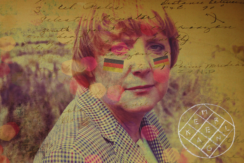 hipstermerkel :     Arcade Angela     best tumblr yet.