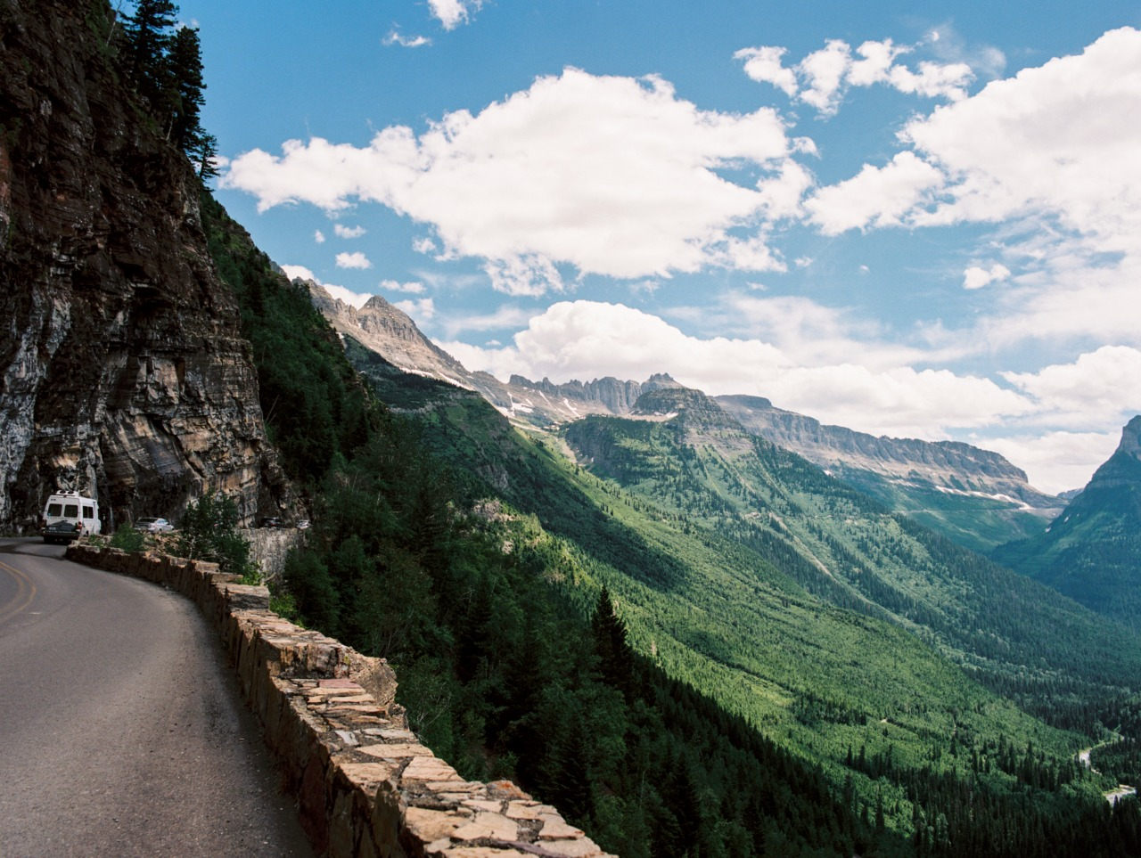 taylormccutchan :     Going to the sun road - Glacier National Park   Substance of the west 2013   Pentax 645, 45mm, Fuji pro 400h