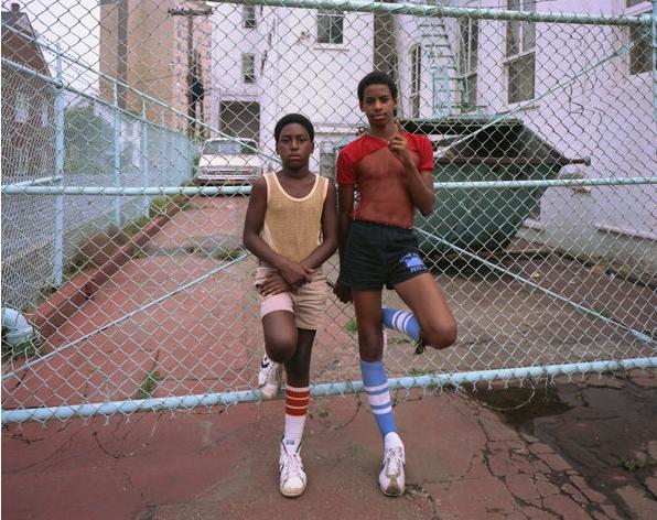 mpdrolet :      Blue fence, Asbury Park, New Jersey, 1980     Joe Maloney