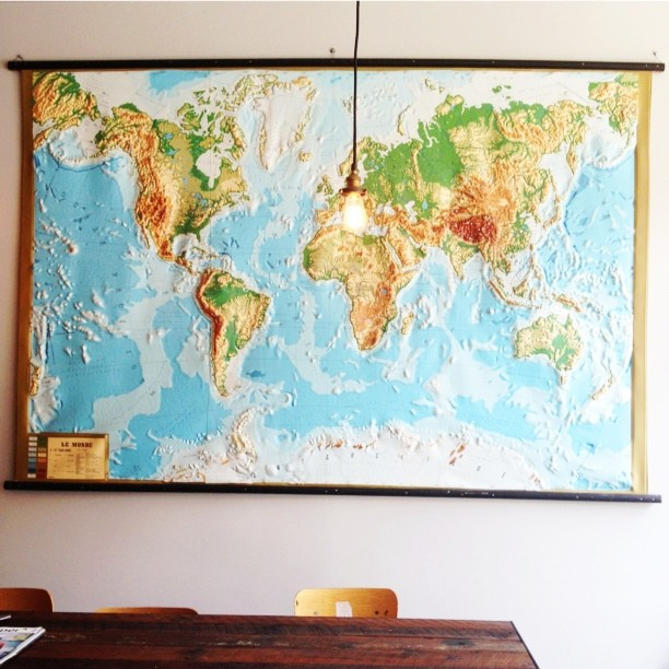 Map (at Kitsuné Espresso Bar Artisanal)