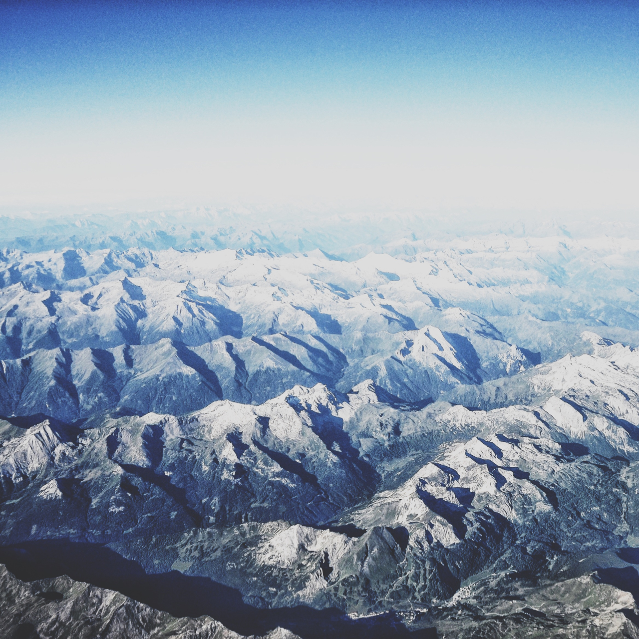 Somewhere over Europe