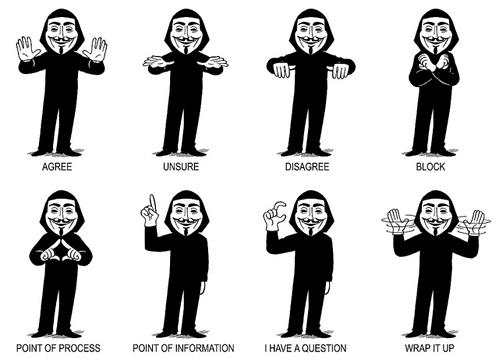 nevver :     Occupy Hand signals,  Adam Koford