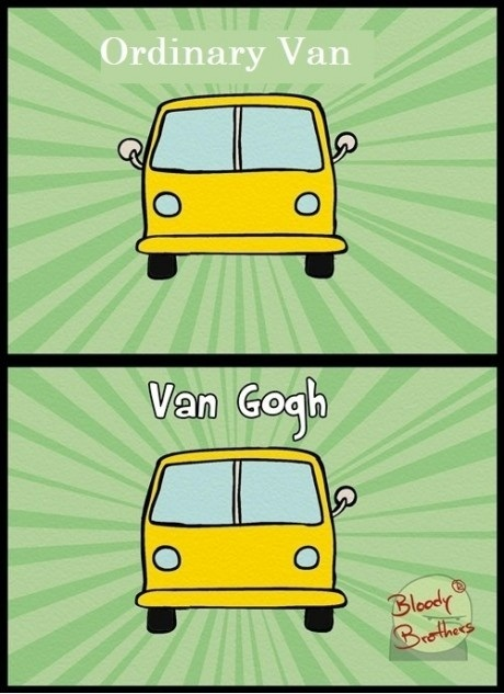 Ordinary van vs. Van Gogh