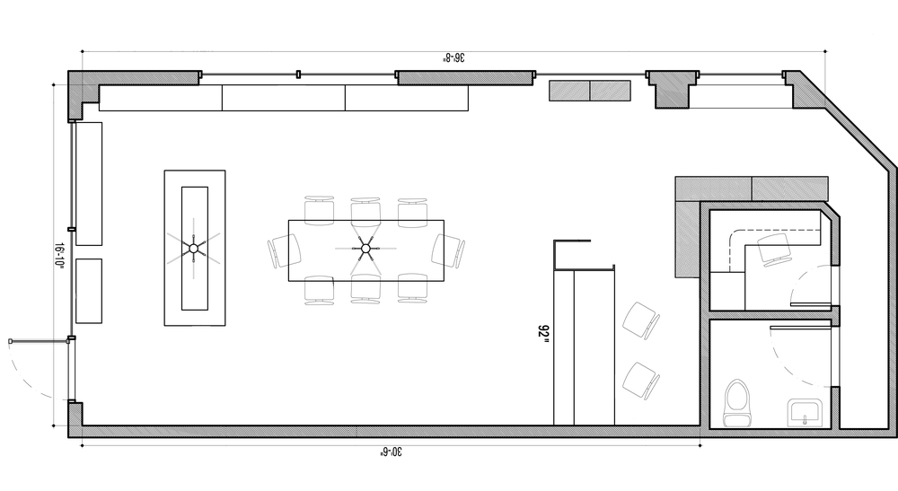Piermont Straus Gallery floor plan.