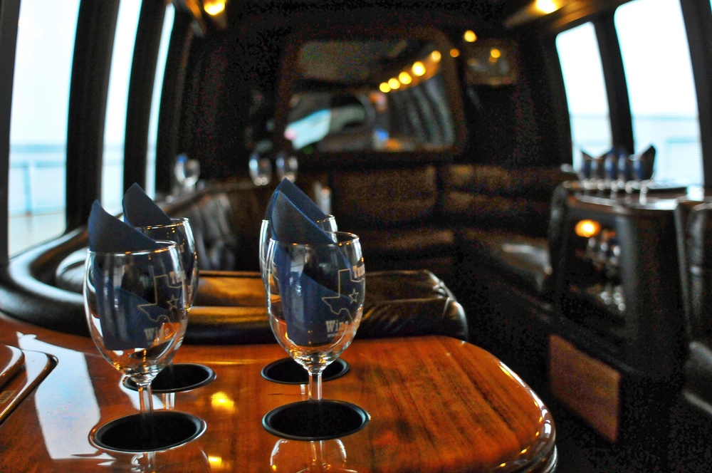 Our Luxury Limo Coach Seating holds up to 14