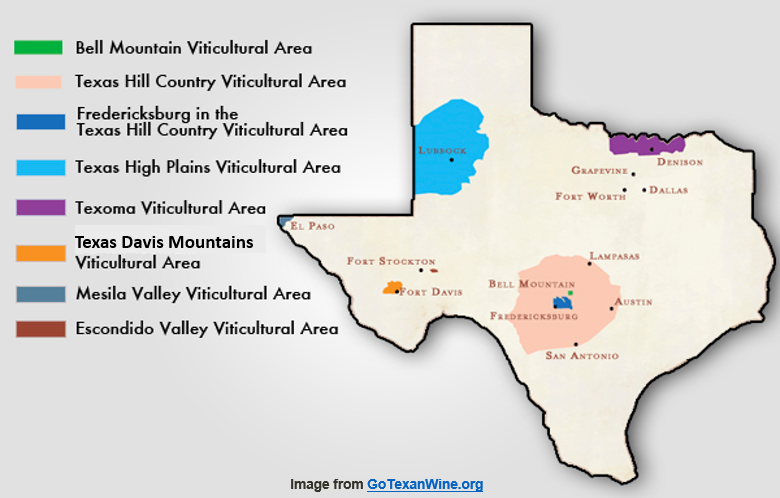 Map Of Texas Wineries.10 Facts About American Viticultural Areas Texas Wine Tours