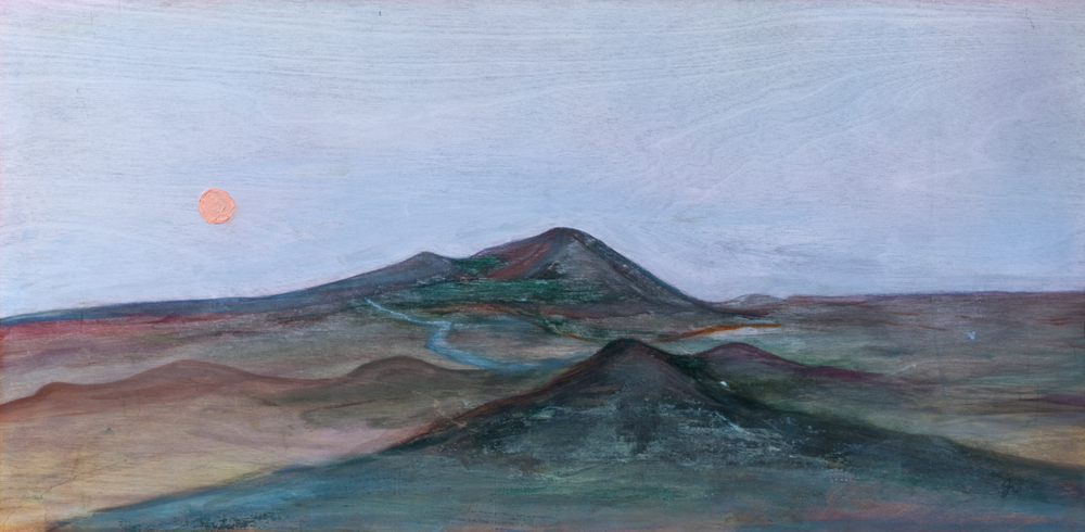 "Placer Mountain - 12"" x 24"" - $300"