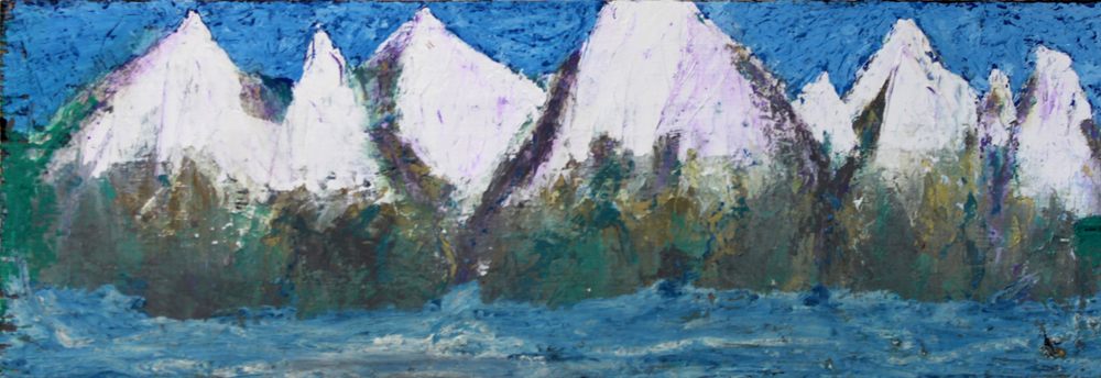 "Montana Mountains - 12"" x 36"" - $400"