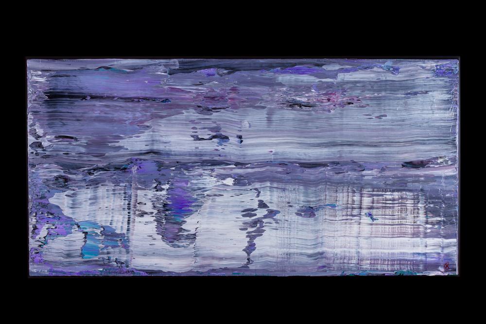 "Fast Water II - 18"" x 36"" - $450"