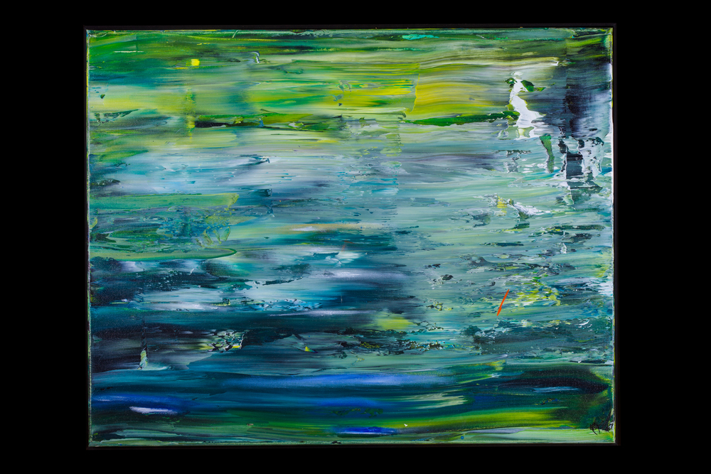 "Meadow Puddle - 24"" x 36"" - $450"