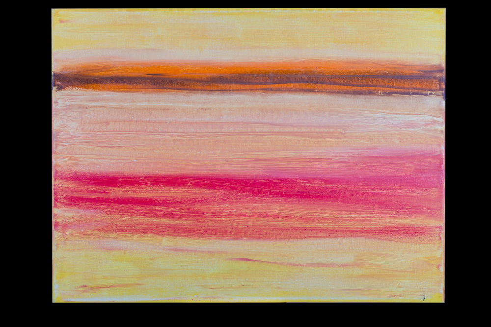 "Sunset Beach - 18"" x 24"" - $300"