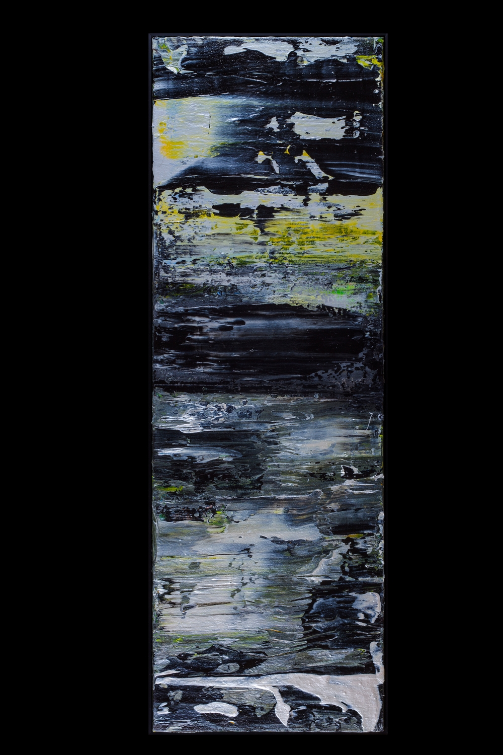 "Midnight Water - 12"" x 36"" - $450"