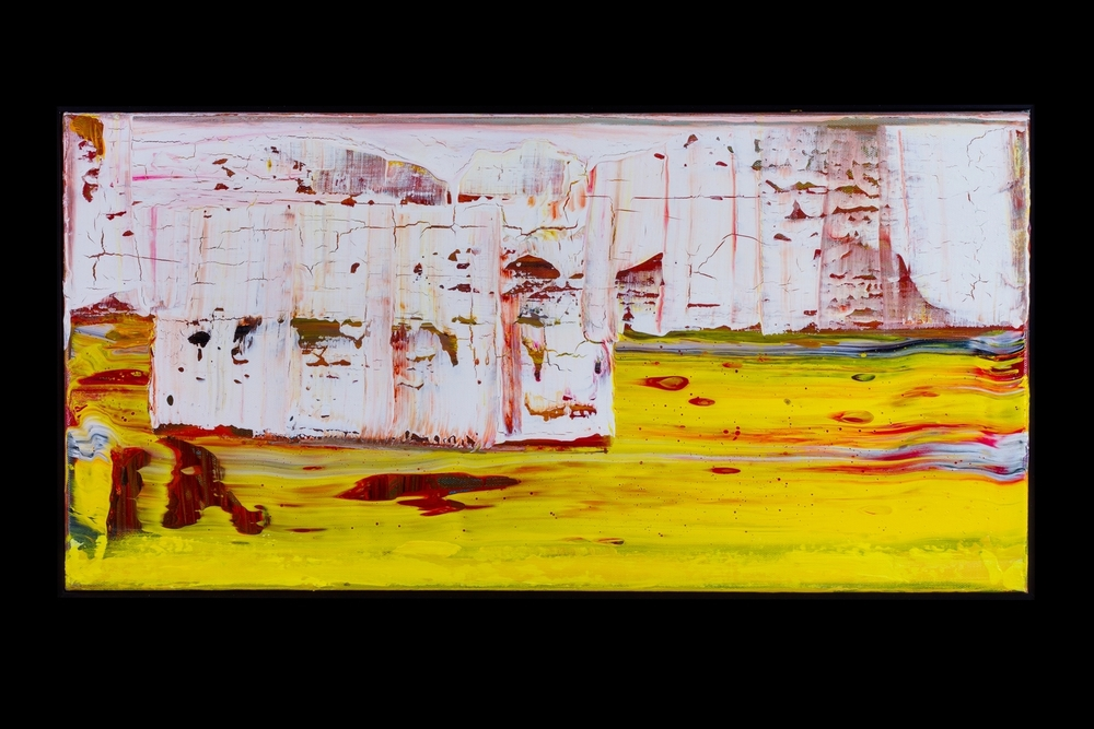 "Yellow River Rock Slide - 12"" x 24"" - $400"