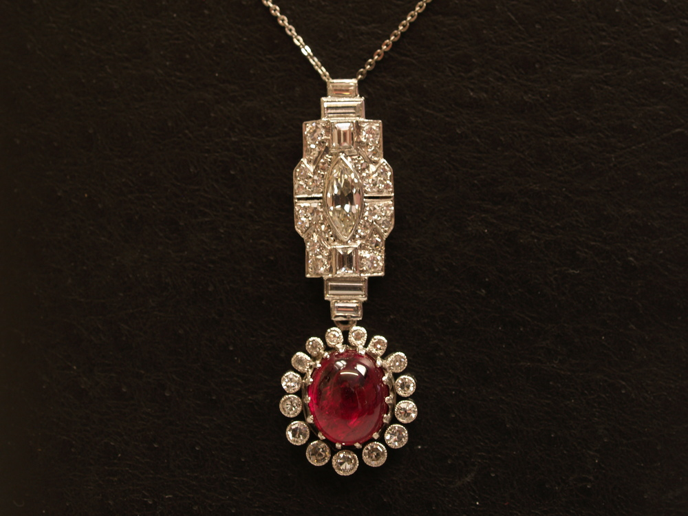 Art Deco Period Ruby Necklace
