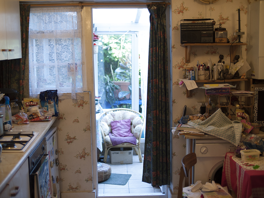 Madeleine's kitchen contains everything she needs in a normal day, within a small floor area